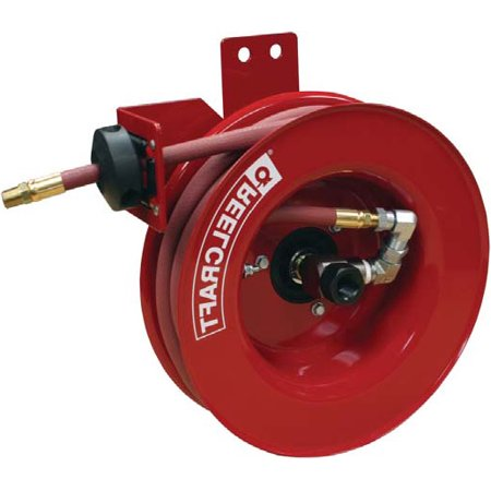 Reelcraft A5825 Olpsml 1 2  X 25 Ft Side Mount Air Water Hose Reel  Inlet Left