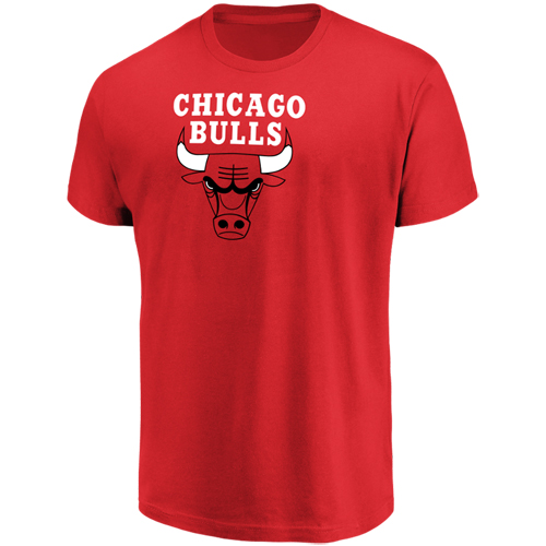 Men's Majestic Red Chicago Bulls Victory Century Short Sleeve T-Shirt