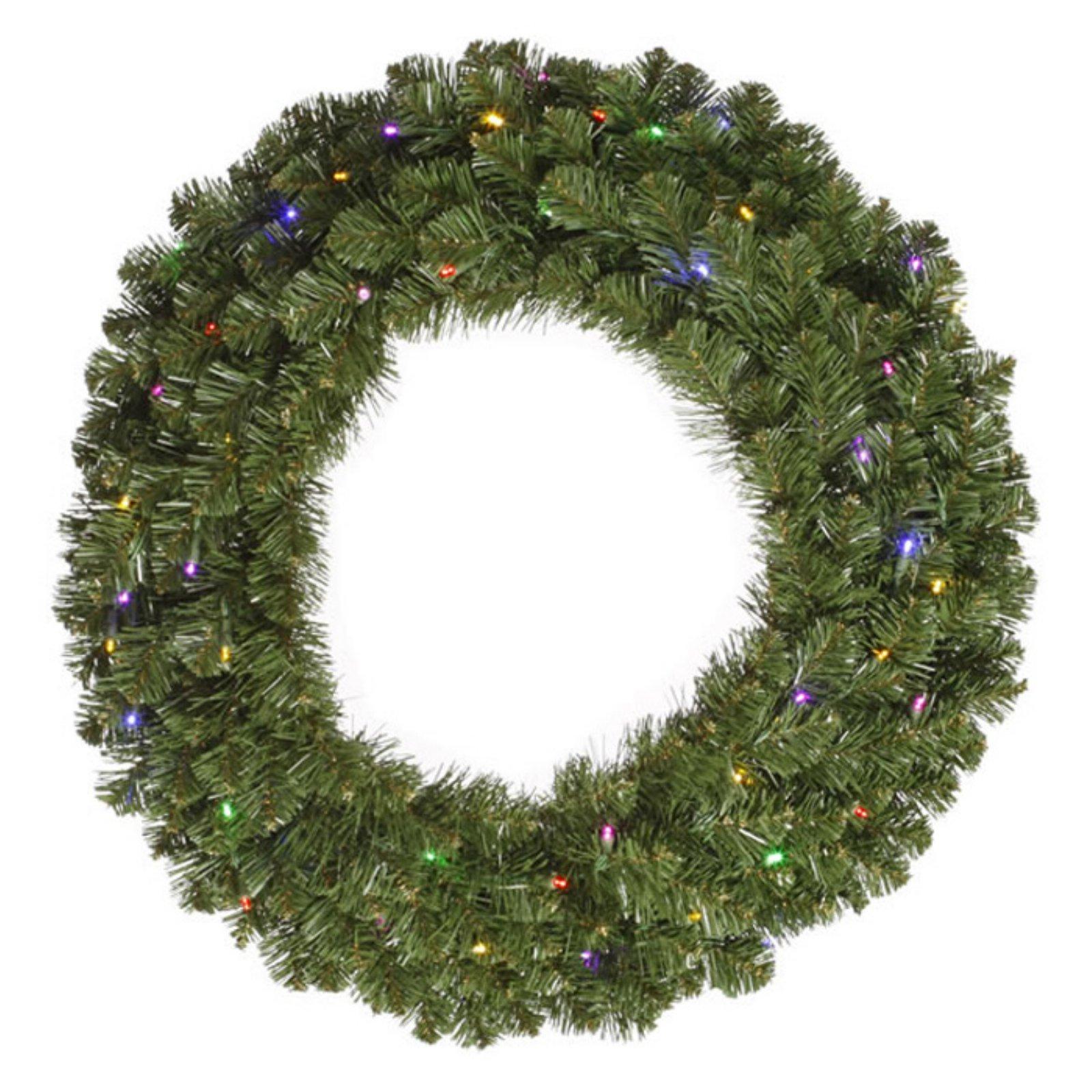 120 in. Pre-Lit Multi Colored LED Commercial Grade Grand Teton Wreath by Vickerman