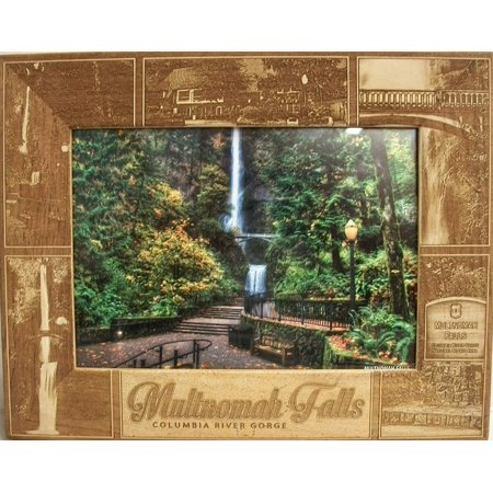 Multnomah Falls Columbia River Gorge Laser Engraved Wood Picture Frame (5 x 7) ()