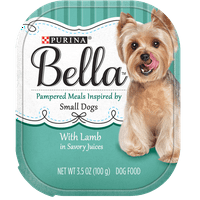 Purina Bella with Lamb in Savory Juices Adult Wet Dog Food, 3.5 oz. Tray (12 Pack)