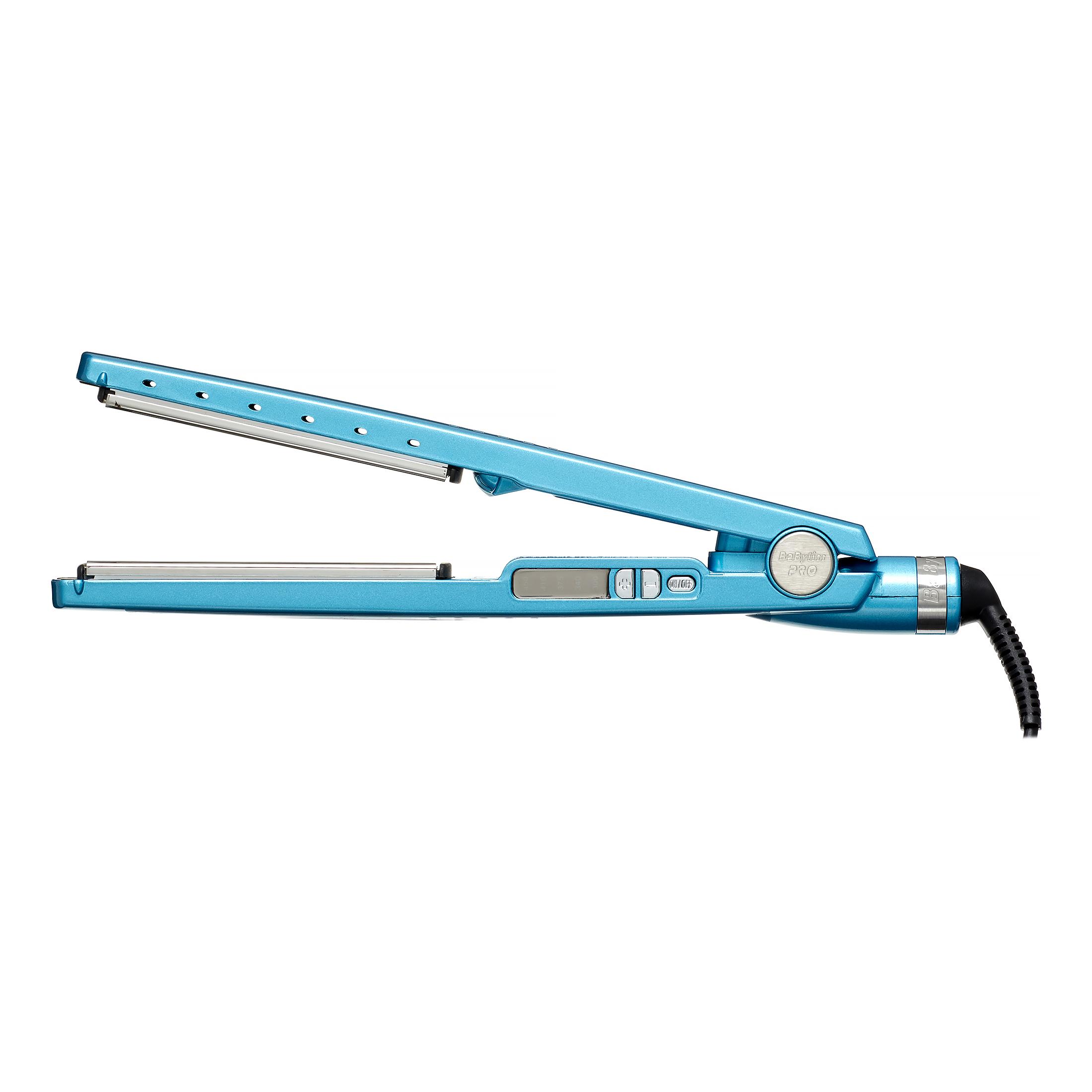 """Babyliss Pro nano titanium 1.25"""" flat iron, blue"""