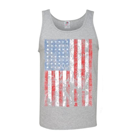 Distressed American Flag USA Patriotic Clothing Mens Graphic Tees Tank Top