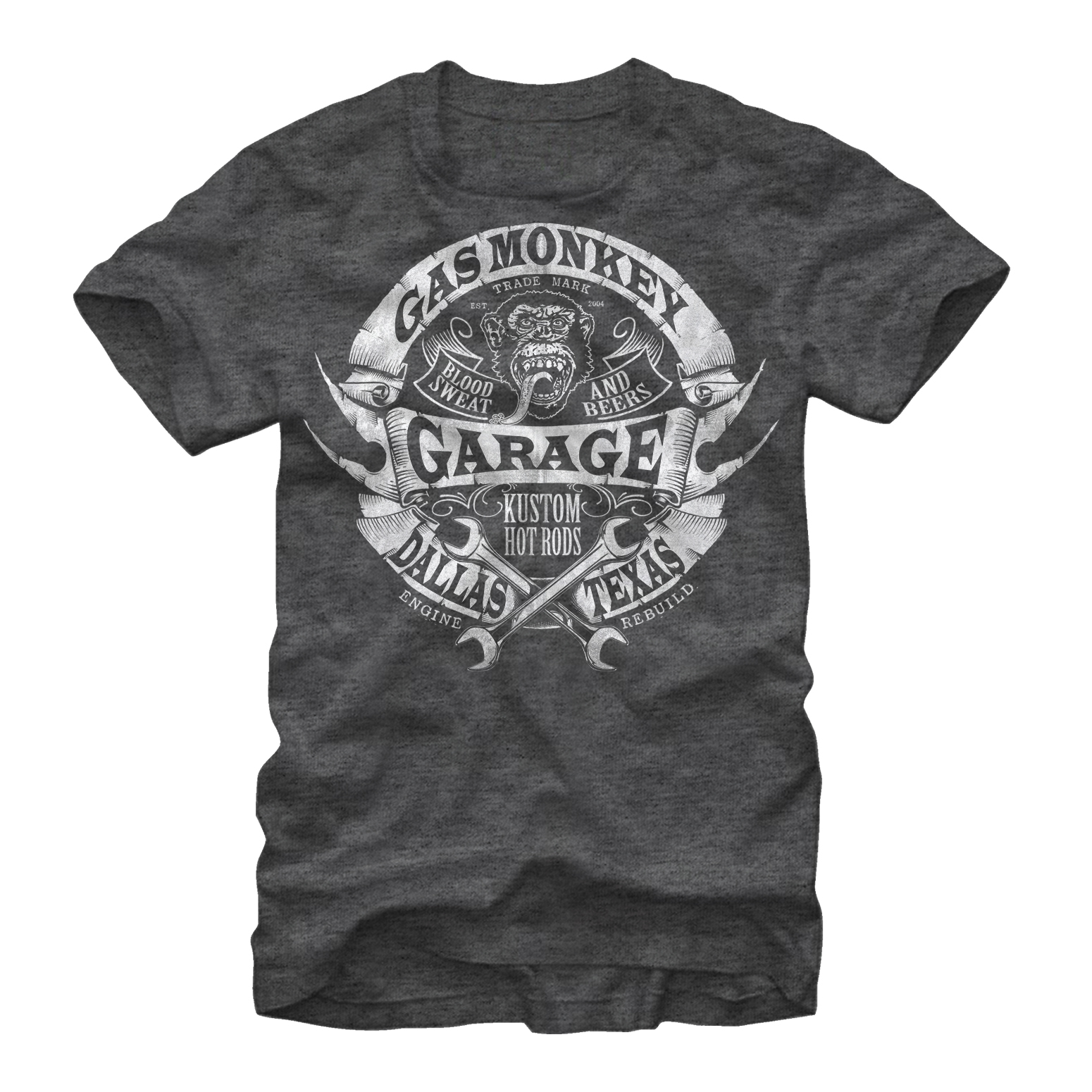 Gas Monkey Men's Banner Wrenches T-Shirt