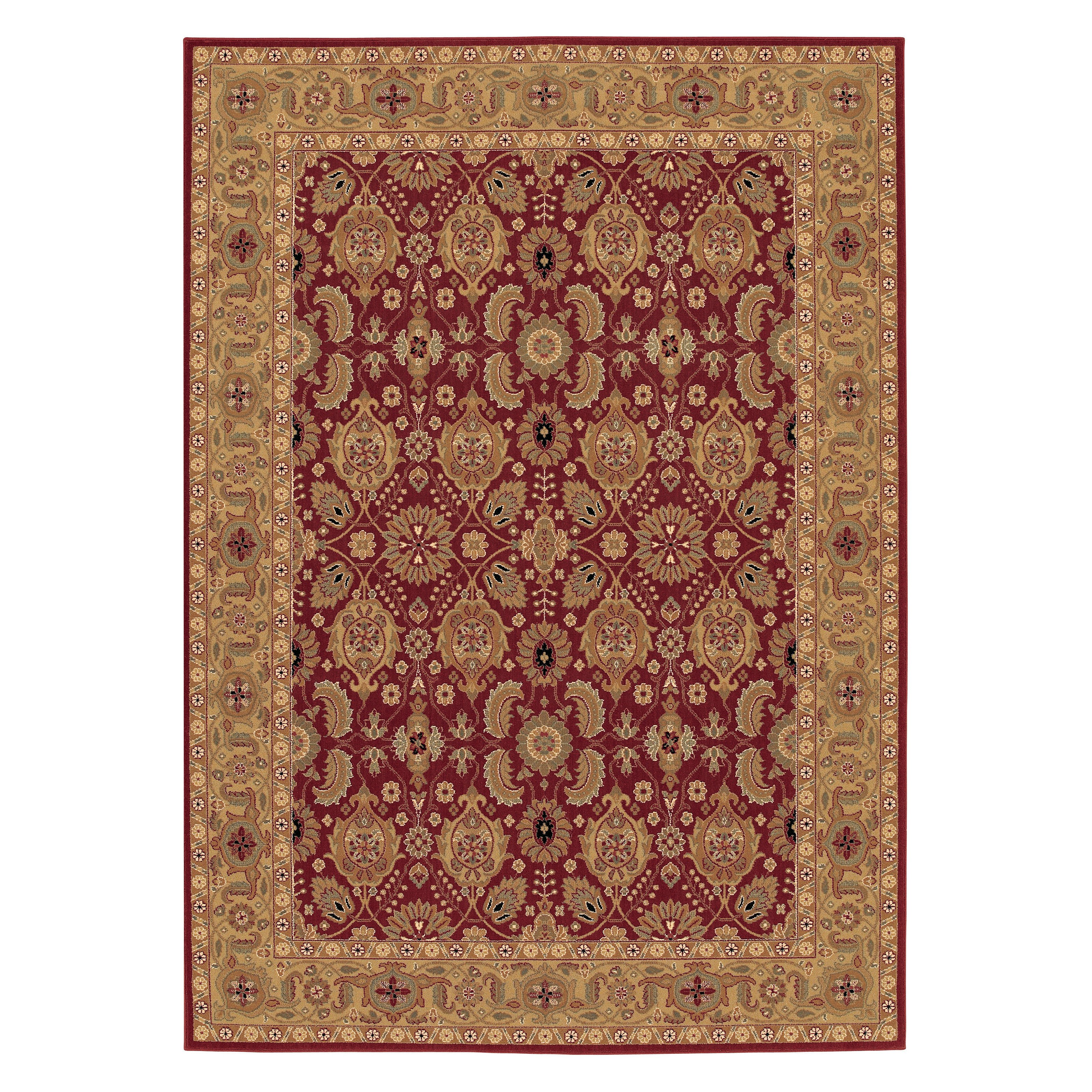 Couristan Royal Kashimar 8132/2608 All Over Vase Area Rug - Persian Red