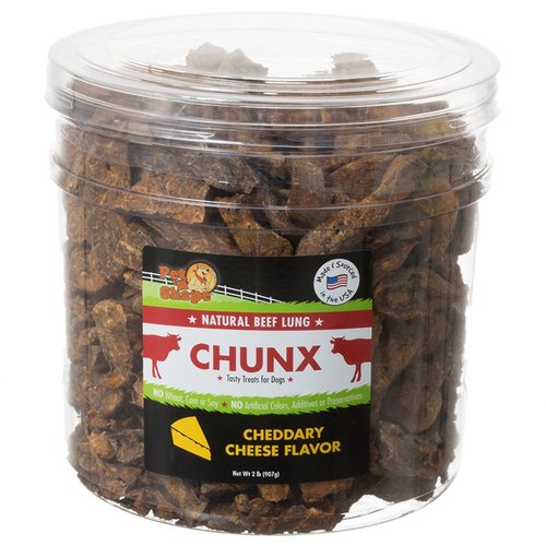 Pet n Shape Natural Beef Lung Chunx Dog Treats - Cheddary Cheese Flavor