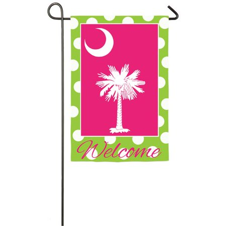 South Carolina Garden Flag (Evergreen Flag & Garden South Carolina Polka Dot 2-Sided Polyester 1'6 x 1 ft. Garden)
