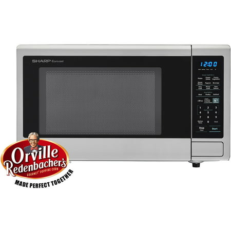 Sharp Carousel 1 4 Cu Ft 1000w Countertop Microwave Oven With Orville Redenbacher S Popcorn Preset