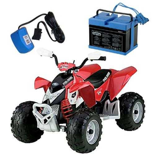 Peg-Perego IGOR0044KIT  Red Polaris Outlaw Ride On Toy Ki...