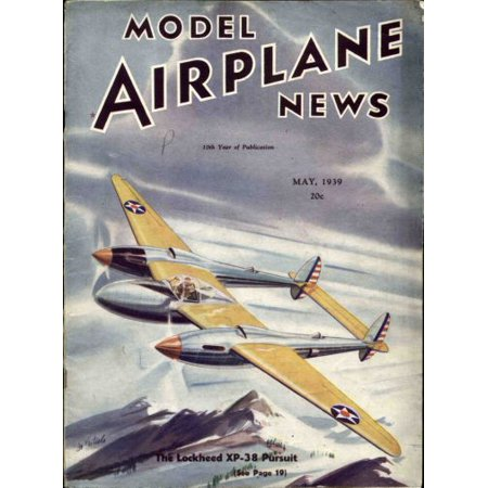 Model Airplane News 1939 Mini poster 11inx17in - Model Airplane News Magazine