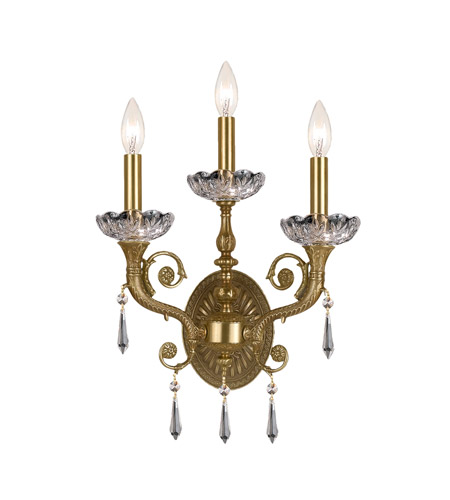 Crystorama 5173-AG-CL-SAQ Three Light Sconces by Crystorama