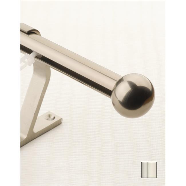 WinarT USA 8. 1057. 20. 18. 200 Luna 1057 Curtain Rod Set -. 75 inch - Pewter - 78 inch