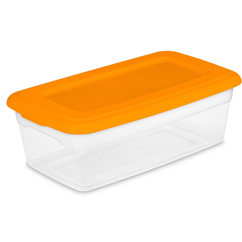 Sterilite 6 Quart Storage Box Bright Pu Walmartcom