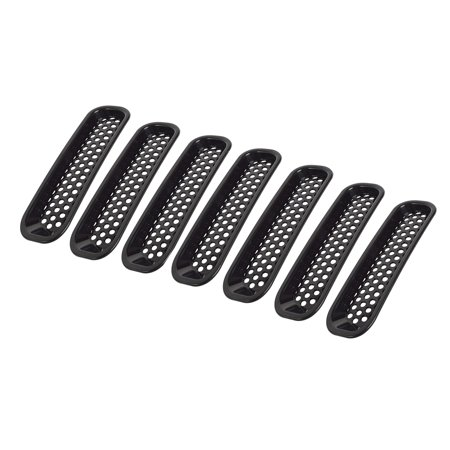 7PCS Decorative Circle Front Grille Insert Mesh Light Circle Grille Guard for 2007-2018 Jeep Wrangler JK 2 Door Unlimited 4 Door Sports Sahara Freedom Rubicon - image 1 of 7
