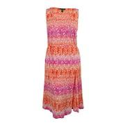 Ralph Lauren Women's Sleeveless Cotton Belted Dress