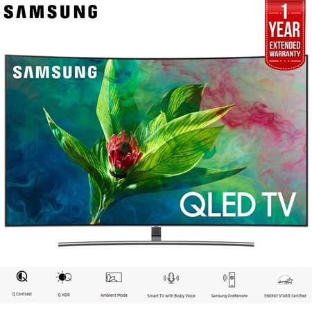 """Samsung QN65Q7CNA 65"""" Q7CN Curved Smart 4K Ultra HD QLED TV (2018) (QN65Q7CNAFXZA) with 2x 6ft High Speed HDMI Cable + Universal Screen Cleaner for LED TVs QN65Q7F QN65Q7 65Q7F 65Q7"""