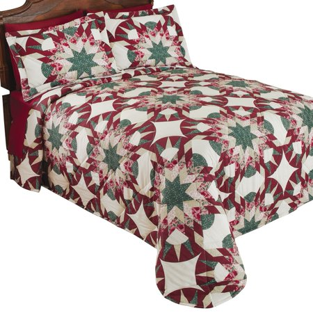 Aurora Star Geometric Patchwork Bedspread, King, Multi