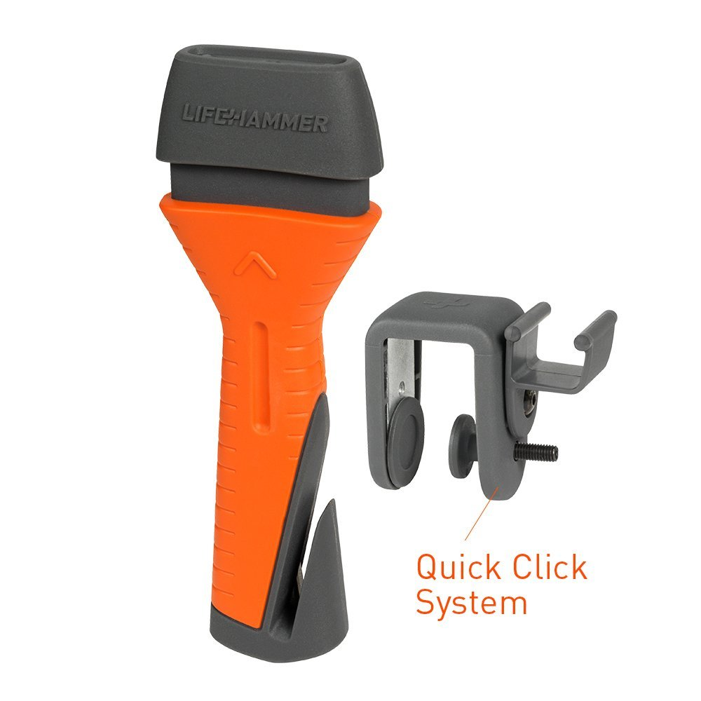 LifeHammer Safety Hammer Evolution - Automatic Emergency Escape and Rescue Hammer With Seatbelt Cutter
