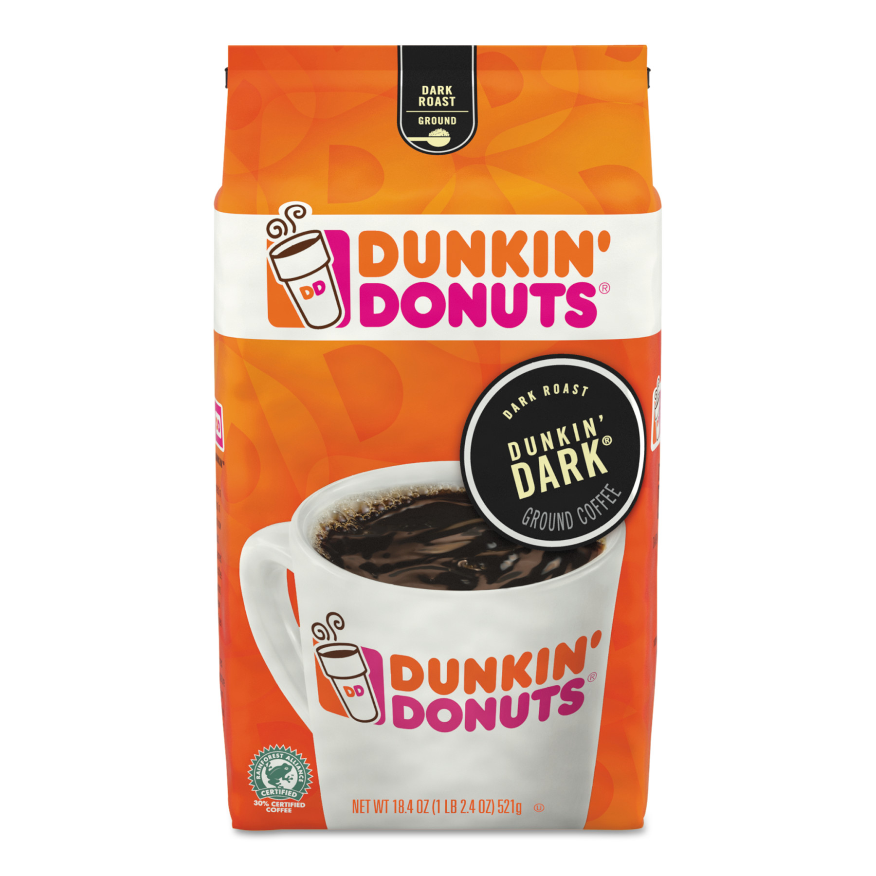 Dunkin Donuts Original Blend Coffee, Dunkin Dark Roast, 18.4 oz