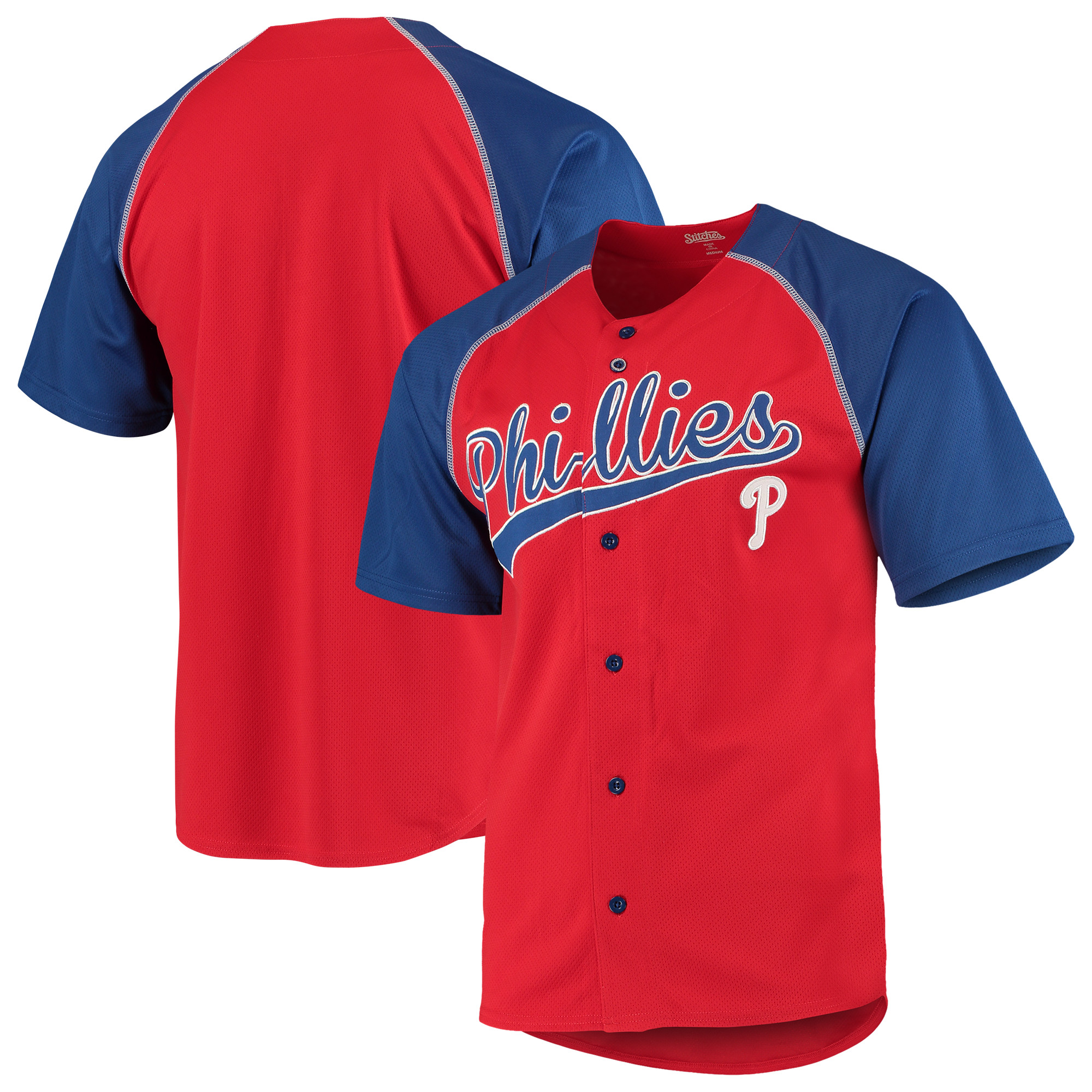Philadelphia Phillies Stitches Team Jersey - Red/Royal