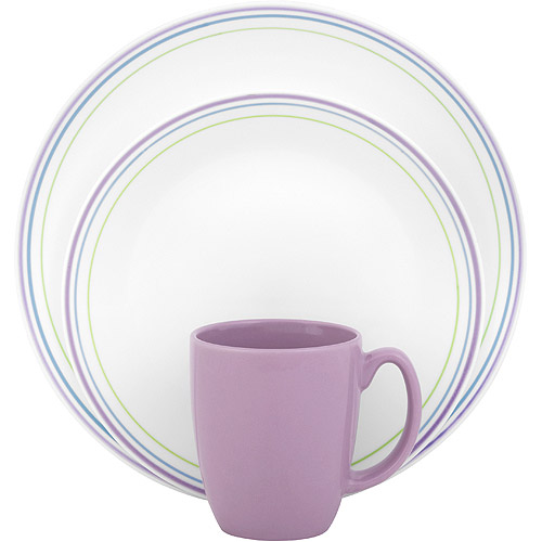 Corelle Livingware Moonglow 16-Piece Dinnerware Set