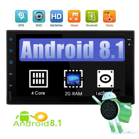 In Dash 7 inch Full Touch Car Tablet Android 8 1 Car Stereo Automotive  Video Audio Playing GPS Navigation Bluetooth System Supported Wifi Steering