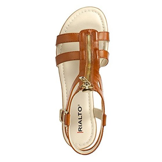 201f298c48b501 Rialto - Womens Rialto Gracia Front Zip Gladiator Sandals