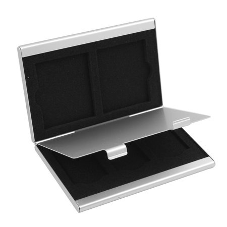 Aluminum Alloy 5 Slots CF SD SIM Memory Card Storage Case Box Bag Silver Tone - image 5 of 5