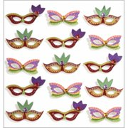 Jolee's Mini Repeats Stickers, Mardi Gras Masks