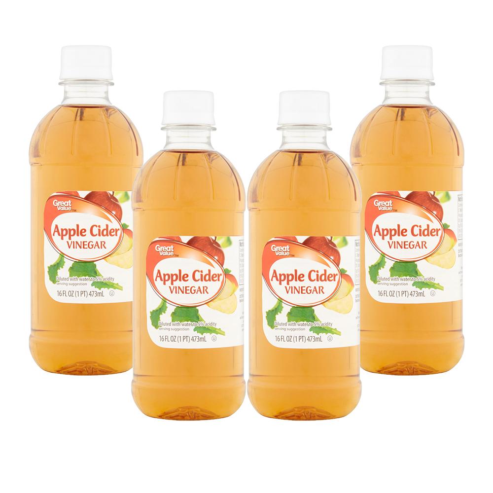(4 Pack) Great Value Apple Cider Vinegar, 16 Fl Oz