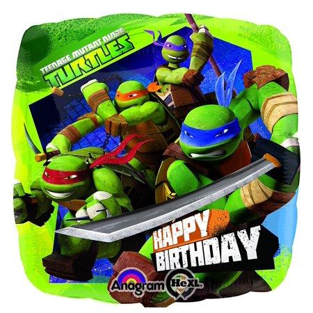 Ninja Turtle Table Decorations (Teenage Mutant Ninja Turtle Birthday Mylar Balloon in Bulk (3 Pack), Teenage Mutant Ninja Turtle By)