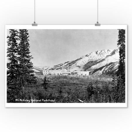 Alaska   Mt Mckinley Natl Park Hotel Exterior Photo  9X12 Art Print  Wall Decor Travel Poster