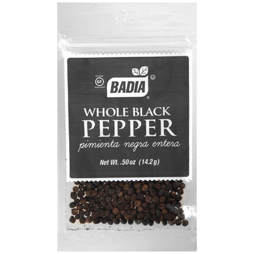 Badia Whole Black Pepper, .5 oz