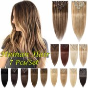Best Clip In Hair Extensions - S-noilite 7 Pcs/Set Clip In Human Hair Extensions Review