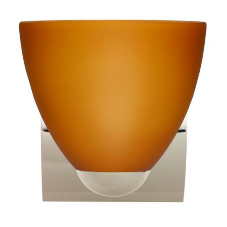 Besa Lighting 1WZ-757280 Sasha 1 Light Bathroom Sconce with Amber Matte Glass Sh