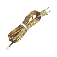 Westinghouse Lighting 70103 Lamp Cord Set, Gold, 18-2, 15-Ft.