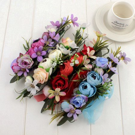 Tuscom Handmade Flower Garland Halo For Wedding Flower wreath Decorations ()