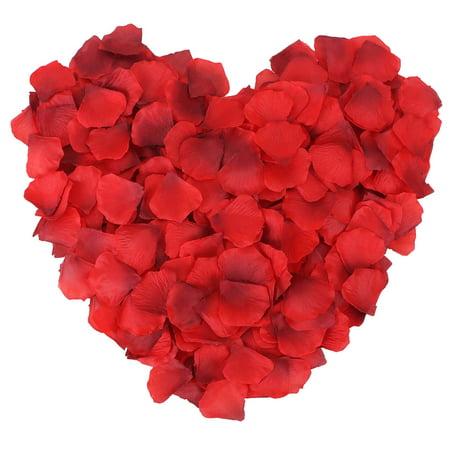 500pcs Silk Flower Rose Petals Wedding Party Decoration, Gradient - Red Vs Blue Halloween