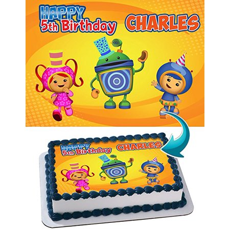 Team Umizoomi Edible Cake Topper Personalized 1 2 Size Sheet Decoration Party Birthday Sugar Frosting Transfer Fondant Image