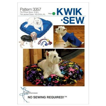 Toyo Pattern - KWIK-SEW PATTERNS K3357 Crafts Pet Pillows, Jackets and Toys, Size XS-S-M-L-XL