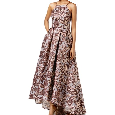 96156bcf8a815 Betsy & Adam Dresses - Betsy & Adam Purple Womens Floral Brocade High Low  Gown - Walmart.com