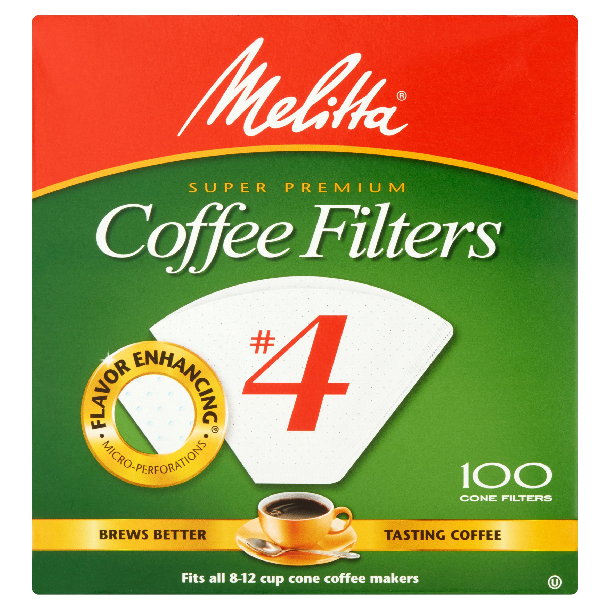 Melitta Super Premium #4 Coffee Filters, 100 count by Melitta USA, Inc.