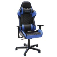 Racecar-style Gaming Chair 275 Lb. Capacity Adjustable Armrests Infinite Angle Lock Reclining- Blue