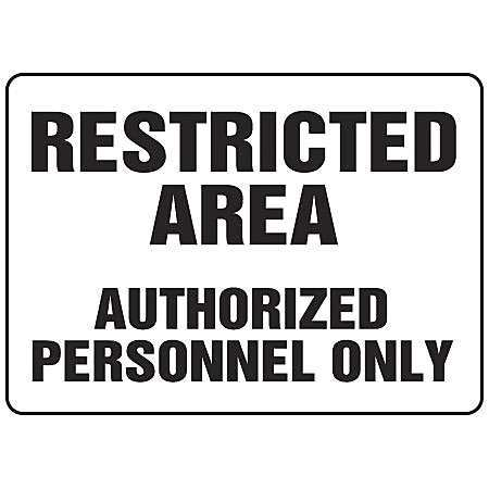 ACCUFORM Admittance Sign,7 x 10In,BK/WHT,ENG,Text, MADM924VS