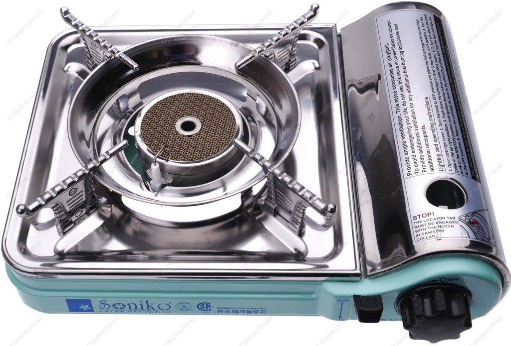 Green Trading Soniko NS7000C Stainless Stainless Mini Portable Gas Stove with Infrared Technology Ceramic Burner M.V