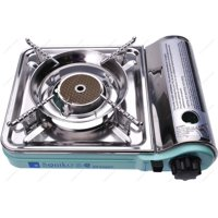 Soniko NS7000C Stainless Stainless Mini Portable Gas Stove with InfraRed Technology Ceramic Burner, Green