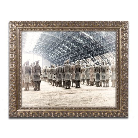 Trademark Fine Art 'Terracotta Army VII' Ornate Gold Framed Art by Philippe Hugonnard (Terra Gold)