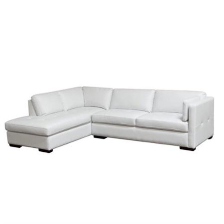 2 pc left facing chaise sectional in white