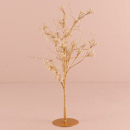 Pearl & Vintage Gold Wire Ornamental Tree Wedding - Wire Crown Centerpieces