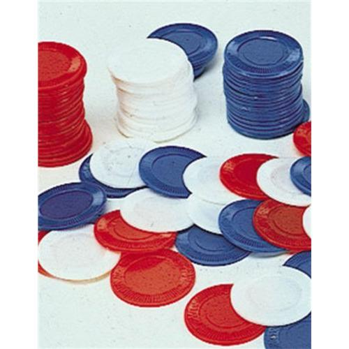 Poker Chips Card Game (100 Bags), Blue